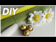 Candy Arrangements, Crepe Paper Flowers, Youtube, Diy, Spring, Paper Flowers, Bricolage, Do It Yourself, Youtubers