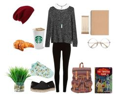 """""""☕&📚"""" by shadowin on Polyvore featuring River Island, Gap, BOBS from Skechers, Kate Spade, Forever 21, Franklin, ADAM and Halogen"""