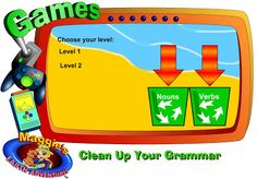 Fantastic game sorting nouns and verbs!