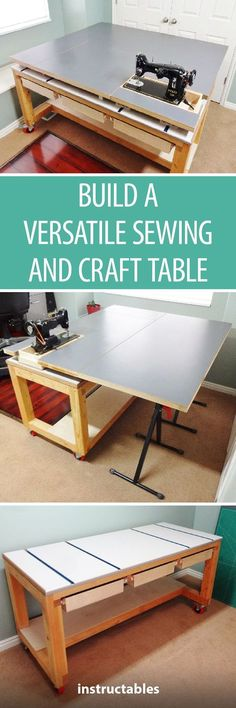 Woodworking Equipment Build a Versatile Sewing and Craft Table