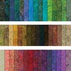 "ENTIRE MALAM BATIKS 10"" SQUARE COLLECTION  love LOVE *L*O*V*E* these colors. Would 10"" squares of each be enough?"