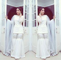 Champagne gold peplum top with draped skirt – feather dress Pakistani Dresses Casual, Pakistani Wedding Outfits, Pakistani Dress Design, Ethnic Outfits, Indian Outfits, Indian Designer Outfits, Designer Dresses, Saris, Indian Dresses Traditional