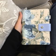 Fabric week planner with pen holder and two inside pockets Week Planner, Leather Journal, Pen Holders, Blue Flowers, Planners, Bullet Journal, Pockets, Make It Yourself, Trending Outfits