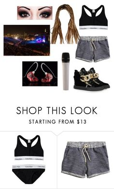 """""""If I was a celebrity: concert"""" by paula24699 ❤ liked on Polyvore featuring Calvin Klein, H&M and Giuseppe Zanotti"""