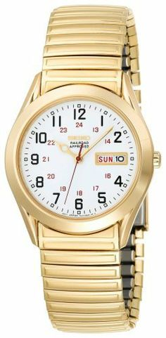 Seiko Men's SGG746 Railroad Seiko Flex Gold-Tone Watch Seiko. $117.00. Water resistant up to 99 feet (30 M). Stainless steel case; white dial; day-and-date functions. Strong Hardlex crystal protects dial from scratches. Case diameter: 40.3 mm. Reliable Japanese-quartz movement. Save 40% Off!