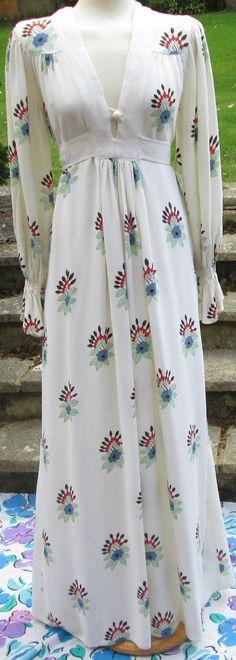 Ossie Clark for Radley maxi dress with Celia Birtwell print