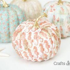 Mod Podge Fall Coastal Theme Pumpkins | Crafts by Courtney - featured on DETAILS http://carolynsdetails.blogspot.com/