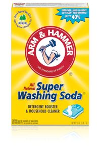Green Cleaning with Homemade Cleaners: Washing Soda? It is alkaline and good for cleaning grout.