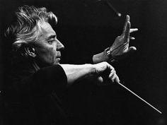 Herbert von Karajan. österreichischer Dirigent des 20th Jhd.