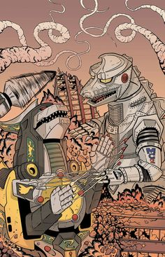 Dragonzord vs. Mecha Godzilla by KillustrationStudios *