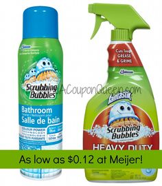 Meijer: Scrubbing Bubbles Products as low as $0.12! BecomeACouponQueen.com
