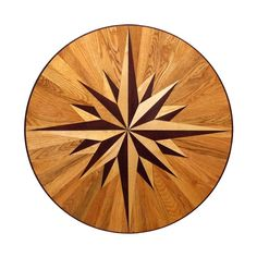 3/4 in. Thick x 36 in. Wide Circular Medallion Unfinished Decorative Wood Floor Inlay MC011, Unfinished Hardwood