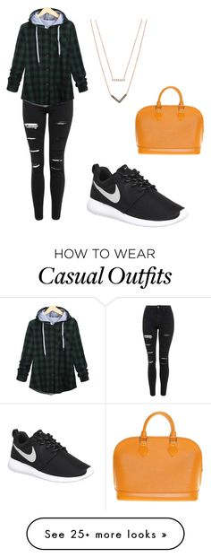 """""""Casual"""" by tammyhazz on Polyvore featuring NIKE, Topshop, Michael Kors, Louis Vuitton, women's clothing, women's fashion, women, female, woman and misses"""