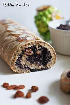 Rolada makowo-jabłkowa jak w bajce! Pyszne ciasto z makiem, zwinięte w ślimaczek z błyszczącą polewą! Tego nie da się zastąpić. Musisz spróbować już dziś! Food Cakes, Cake Recipes, Healthy Recipes, Healthy Food, Muffin, Rolls, Low Carb, Gluten Free, Sweets