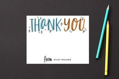 Thank You Outlines Children's Stationery by Alethea and Ruth at minted.com
