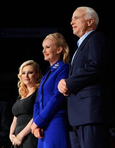 Senator John McCain with wife, Cindy McCain, and daughter, Meghan McCain Cindy Mccain, Meghan Mccain, Senator Mccain, Navy Admiral, Town And Country Magazine, Presidents Wives, Nancy Reagan, Sarah Palin, Naval Academy