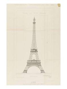 Giclee Print: Alexandre-Gustave Eiffel Art Print by Alexandre-Gustave Eiffel : 24x18in