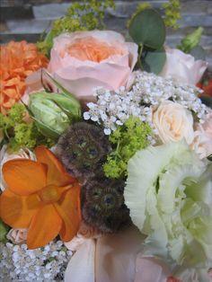 Bouquet pêche orange