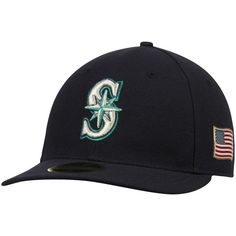 Seattle Mariners New Era Authentic Collection On-Field 59FIFTY Low Profile Flex Hat with 9/11 Side Patch - Navy
