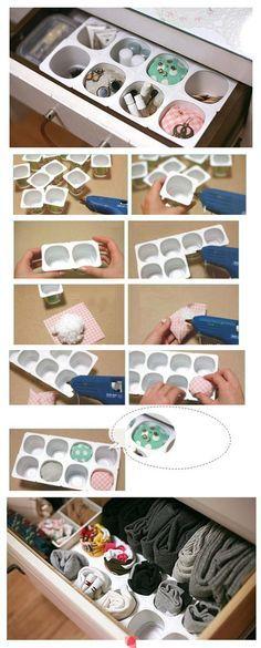 Repiny - Most inspiring pictures and photos! Muy buena idea para guardar y ademas reciclas!!!