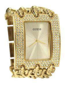 GUESS Women's U0085L1 Chain-Link Rhinestone Watch $113.39 (save $36.61)