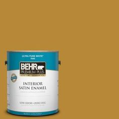 BEHR Premium Plus, 1-gal. #S-H-350 Burmese Gold Zero VOC Satin Enamel Interior Paint, 730001 at The Home Depot - Mobile