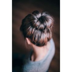 20 Chic Bun Hairstyles We Love ❤ liked on Polyvore featuring beauty products, haircare, hair styling tools, hair, hairstyles, hair styles and cabelo