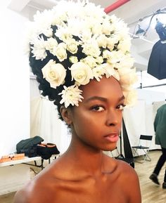 blackfashion: Kristina Elise on set in NY... - Of Course Black is Beautiful