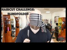Blindfolded Haircut - Haircut Challenge -TheSalonGuy
