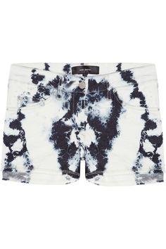 Isabel Marant Irox tie-dyed stretch-denim shorts NET-A-PORTER.COM
