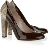 chloe watersnake and patentleather pumps
