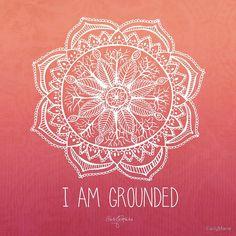 I Am Ground - Root Chakra Square von CarlyMarie