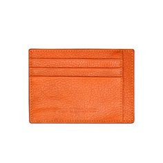 LEATHER CREDIT CARD HOLDER BILL / DOUX ORANGE GOLDBLACK Premium Accessories