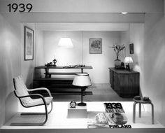 Armchair 406 design Alvar Aalto 1939, Stool 60 design Alv... - ThingLink