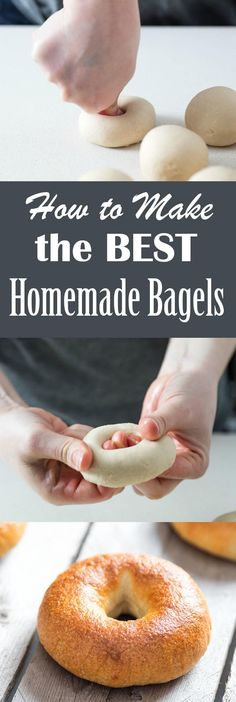 HOMEMADE BAGELS RECIPE While not a traditional recipe in any sense of the word, these bagels deliver everything they should, from their tender but chewy interiors to their crisp, glossy, and beautifully blistered crust. ~~ CLICK PIN TO READ MORE ~~ Bread Machine Recipes, Easy Bread Recipes, Healthy Diet Recipes, Cooking Recipes, Best Recipes, Quick Bread, Pizza Recipes, Cooking Tips, Carb Cycling Diet