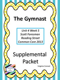 Here are some supplemental materials for your Reading Street (2013 Common Core Scott Foresman) book. It contains a variety of items to enhance your lessons during this story. Be sure to take a look at the preview. *Vocabulary word and meaning cards *Vocabulary Study Guide *Vocabulary Test *2 Comprehension Worksheets (1 for each segment) *2 Sequencing Worksheets (1 for each segment) *Spelling List (2 handouts on a page) *Amazing Words Dictionary Worksheet *Anchor Chart for an…