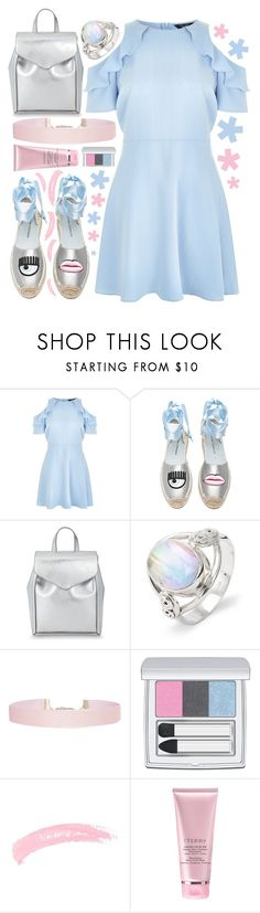 """💎💎💎"" by sanela-enter ❤ liked on Polyvore featuring New Look, Chiara Ferragni, Loeffler Randall, Humble Chic, RMK, Topshop and By Terry"