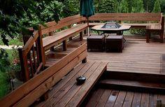 49 New Ideas Backyard Retreat Pool Seating Areas Hot Tub Backyard, Backyard Swings, Backyard Lighting, Backyard Retreat, Backyard Patio, Backyard Ideas, Wedding Backyard, Deck Bench Seating, Built In Seating