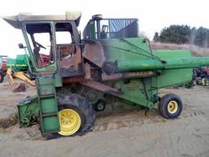 John Deere 7700 combine salvaged for used parts. This unit is available at All States Ag Parts in Downing, WI. Call 877-530-1010 parts. Unit ID#: EQ-23936. The photo depicts the equipment in the condition it arrived at our salvage yard. Parts shown may or may not still be available. http://www.TractorPartsASAP.com