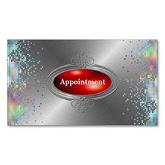 Sequin Elegant Appointment  Template Business Card. Make your own business card with this great design. All you need is to add your info to this template. Click the image to try it out!