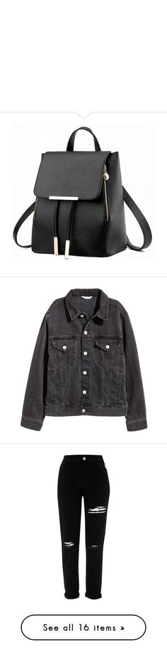 """"""""""" by marielu1 ❤ liked on Polyvore featuring bags, backpacks, backpack, real leather backpack, knapsack bag, leather daypack, leather knapsack, day pack backpack, outerwear and jackets"""
