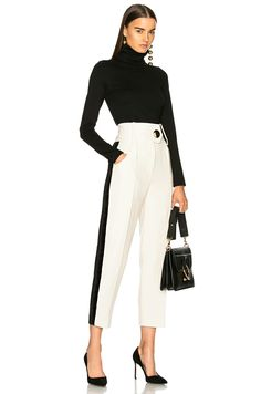 Shop for Victoria Beckham Midweight Jersey High Leg Bodysuit in Black at FWRD. Work Fashion, Asian Fashion, Runway Fashion, Womens Fashion, Fashion Trends, Corporate Fashion, Business Fashion, Ashley Clothes, Look Formal
