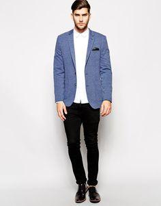 ASOS | ASOS Skinny Fit Blazer In Jersey at ASOS