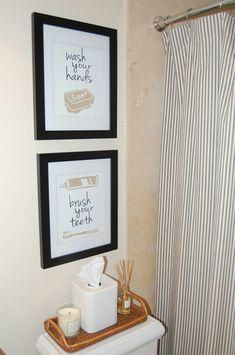 cute small bathroom makeover - Jessica Bennett Interiors