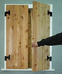 Brandywine Forge – How to size, make and install functional shutters.
