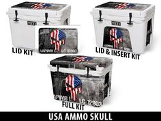 USA Tuff Premium Designs Available on All Make/Model Coolers at www.usatuff.com #YETI #RTIC #ORCA #IGLOOSPORTSMAN #GRIZZLY #PELICAN #BISON #K2 #CoolerAccessories