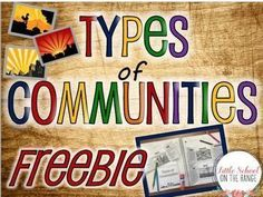 Types of Communities FREEBIE This FREEBIE is a small sample of the complete no-prep unit. This freebie contains foldable activities for Rural, Urban, and Suburban communities. These foldable activities are perfect for interactive notebooks or lapbooks! 3rd Grade Social Studies, Kindergarten Social Studies, Social Studies Notebook, Social Studies Activities, Teaching Social Studies, Classroom Activities, In Kindergarten, Classroom Ideas, Interactive Activities