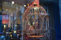 A bird cage Easter Egg part of the Faberge Big Egg Hunt in London.