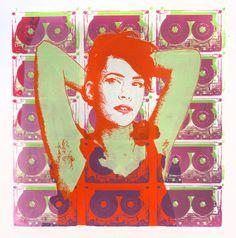 Kathleen Hanna original screen print by Streepy on Etsy, $40.00