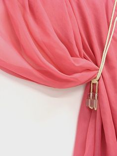 Hot pink semi sheer curtains fabric 118 inches by Eleptolis, $20.00